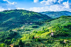 Typical green Tuscany panorama.