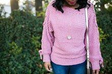 Girl Wearing Stylish Clothing