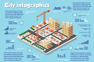 Isometric city  infographics