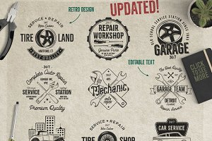 Car Service Badges & Elements