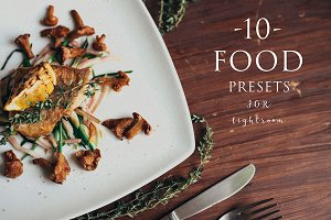 10 Food presets for lightroom