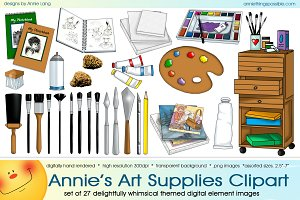 Annie's Art Supplies Clipart