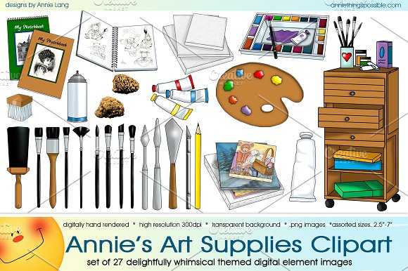 Annies Art Supplies Clipart