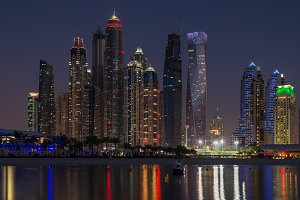 Dubai night scene