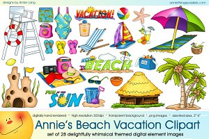 Annie's Beach Vacation Clipart