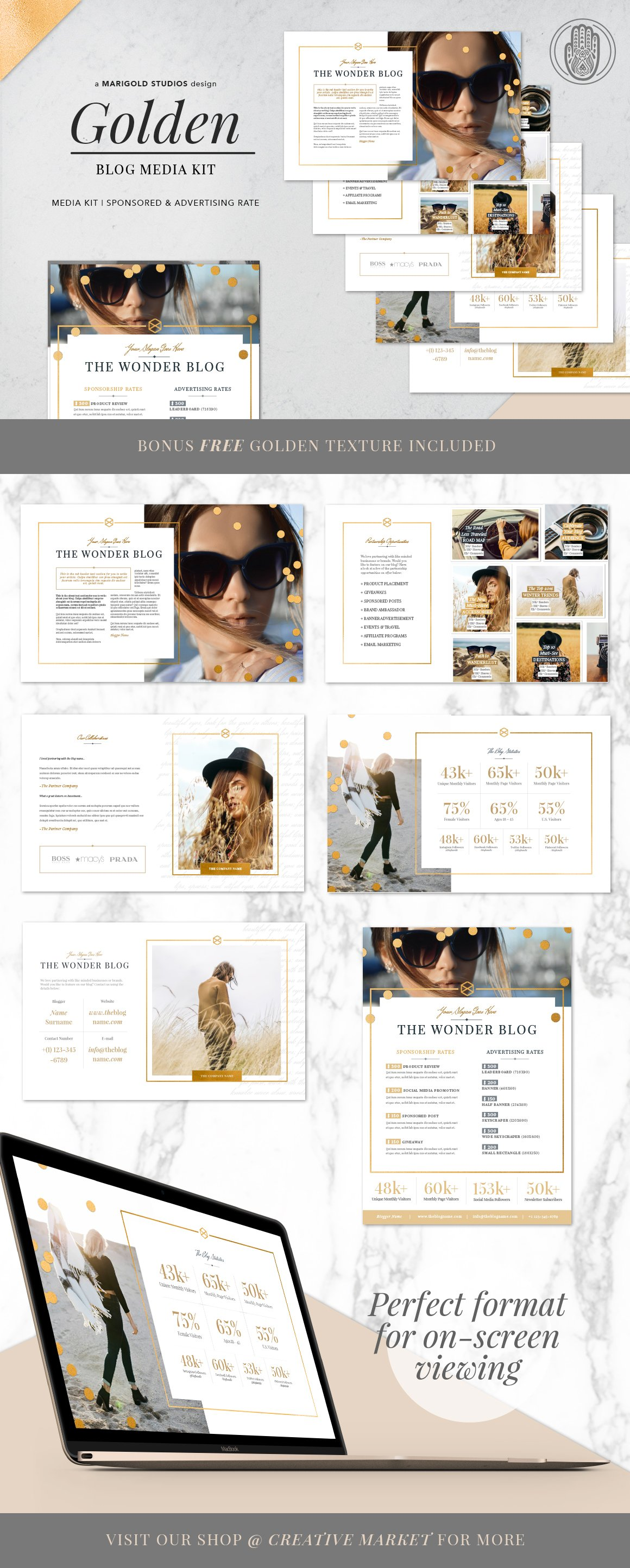 20 Media Kit Templates to Pitch Your Blog to Brands and Journalists ...