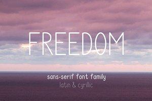 Freedom Font Family. Latin&Cyrillic