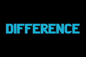 Difference font