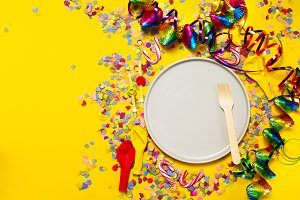 Carnival, food or party background