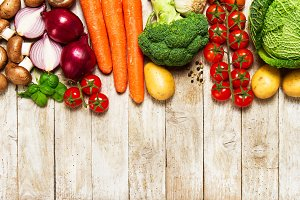 Healthy food or veggie background