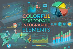 Colorful Corporate Infographics