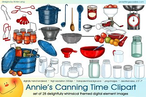 Annie's Canning Time Clipart