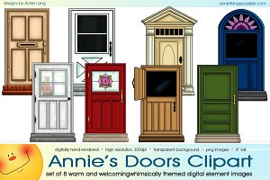 Annie's Doors Clipart