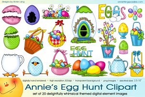 Annie's Egg Hunt Clipart
