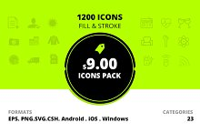 icons - value pack 1200 icons