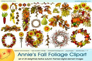 Annie's Fall Foliage Clipart