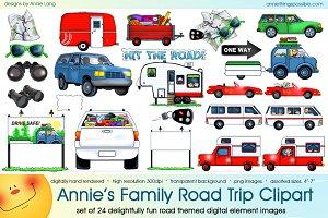 Annie's Family Road Trip Clipart
