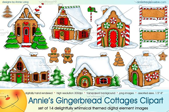 Annie's Gingerbread Cottages Clipart