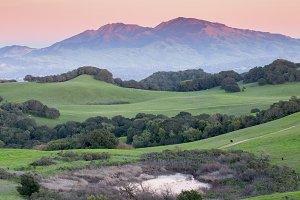 Mt Diablo Sunset, California