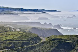 Foggy Northern California Coastline