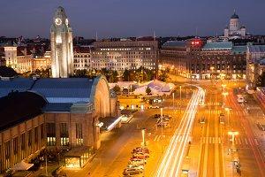 Helsinki Center Aerial View