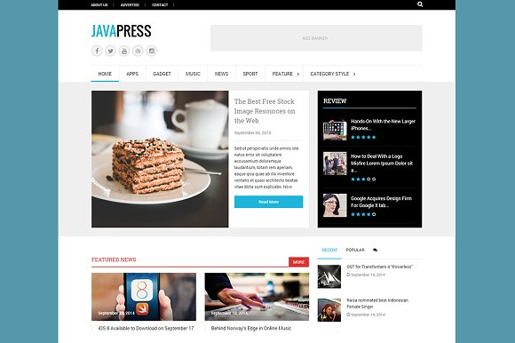 Javapress WP Elegant Magazine