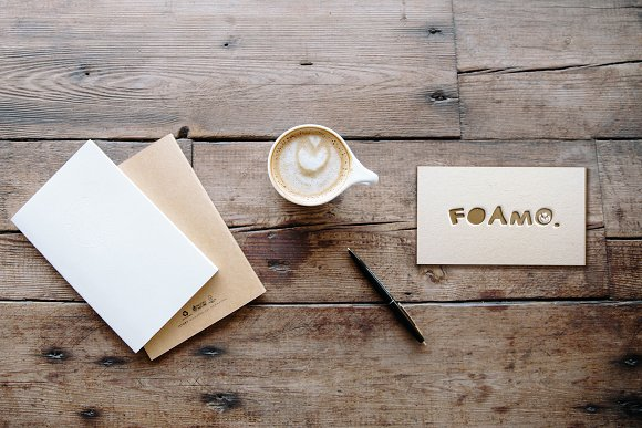 Letterpress Business Card Mockup