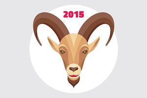 Goat Symbol - Happy New Year 2015