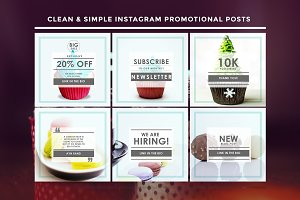 Themed Instagram promo posts