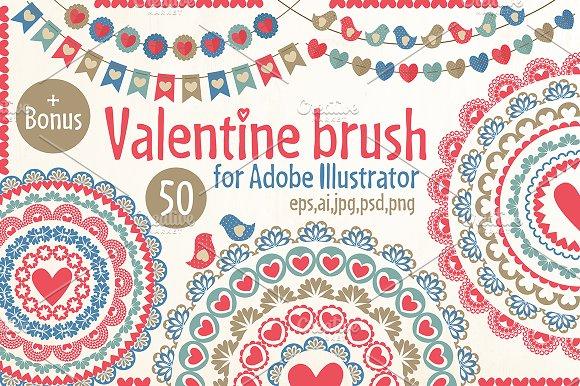 Valentine Pattern Brushes