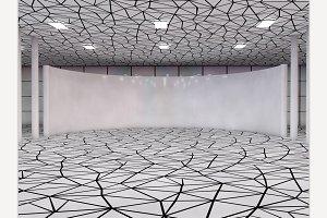 Showroom 3D rendering