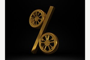 Car golden wheel