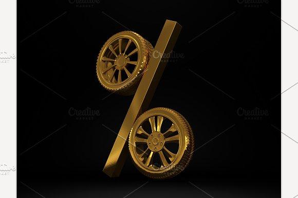 Car Golden Wheel