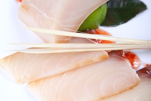 Fresh raw white fish