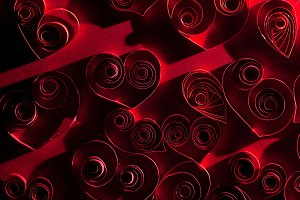 Very beautiful red hearts