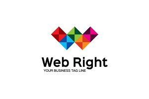 Web Right Logo Template