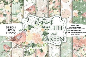 Watercolor Natural digital papers