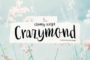 Crazymond font family