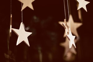 handcraft wooden christmas stars