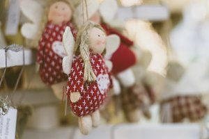 christmasy handcraft deco