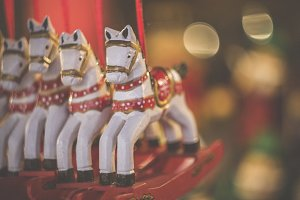 christmas deco items horses