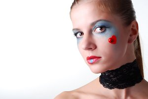 woman with blue eyeshadow