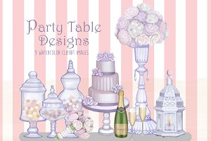 Party Table Designs Clipart Images