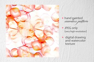rose petals seamless pattern