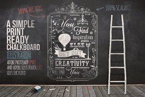 Typography Chalkboard Print 2