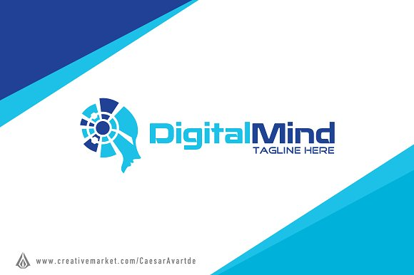 Digital Mind Logo Template
