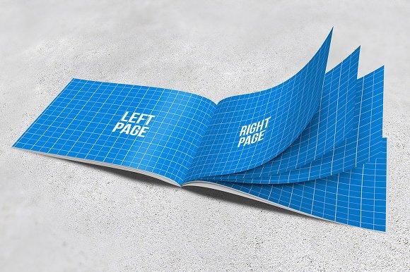 Download A4 Horizontal Brochure Mockups