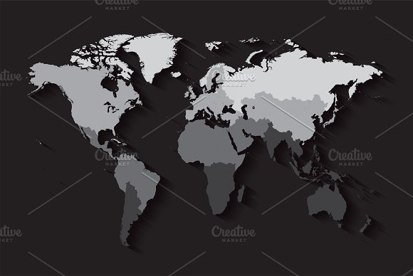 World map with countries black graphics creative market gumiabroncs