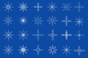 Snowflakes. Design elements. Set.