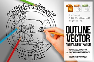 Animal Outline Vector - Urial